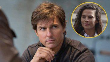 Tom Cruise au fond du seau boursouflé maladroit étonnante réaction face à Hayley Atwell